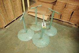 (4) adjustable height pipe stands (LOT)