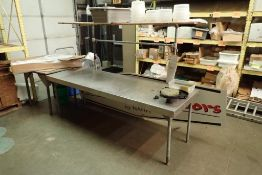 SS table 96 in. long x 31 in. wide x 32 in. tall