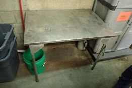 SS table 42 in. long x 30 in wide x 32 in. tall