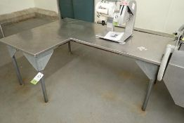 SS L-shaped table