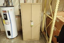 Mild steel cabinet and contents including