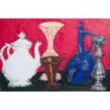 Rik Slabbinck (1914-1991): Still life with glassware, oil on canvas