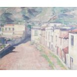 Franois Pycke (1890-1960): 'Gu•mar - Teneriffe' (GŸ'mar), oil on canvas, dated 1956