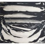 Gustave Sorel (1905-1981): Snow landscape, mixed media on paper