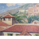 Franois Pycke (1890-1960): 'La Orotava - Teneriffe', oil on canvas, dated 1935