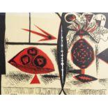 Pablo Picasso (1881-1973): 'Composition au vase de fleurs', lithograph in colours, dated [19]47