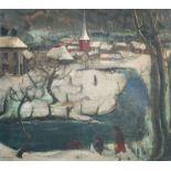 Sander Wijnants (1903-1953): Animated winter landscape, oil on canvas