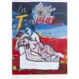 Guillaume Corneille van Beverloo (Corneille, 1922-2010): 'La Traviata', lithograph in colours, ed. E