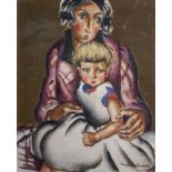 Nina Alexandrowicz (1888-1946): Mother and child, oil on canvas