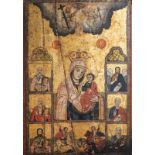 A large Greek Hodegetria icon, 'Mother of God', 18th/19th C.