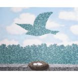RenŽ Magritte (1898-1967, after): 'Le printemps', lithograph in colours, ed. 195/300, dated 2003