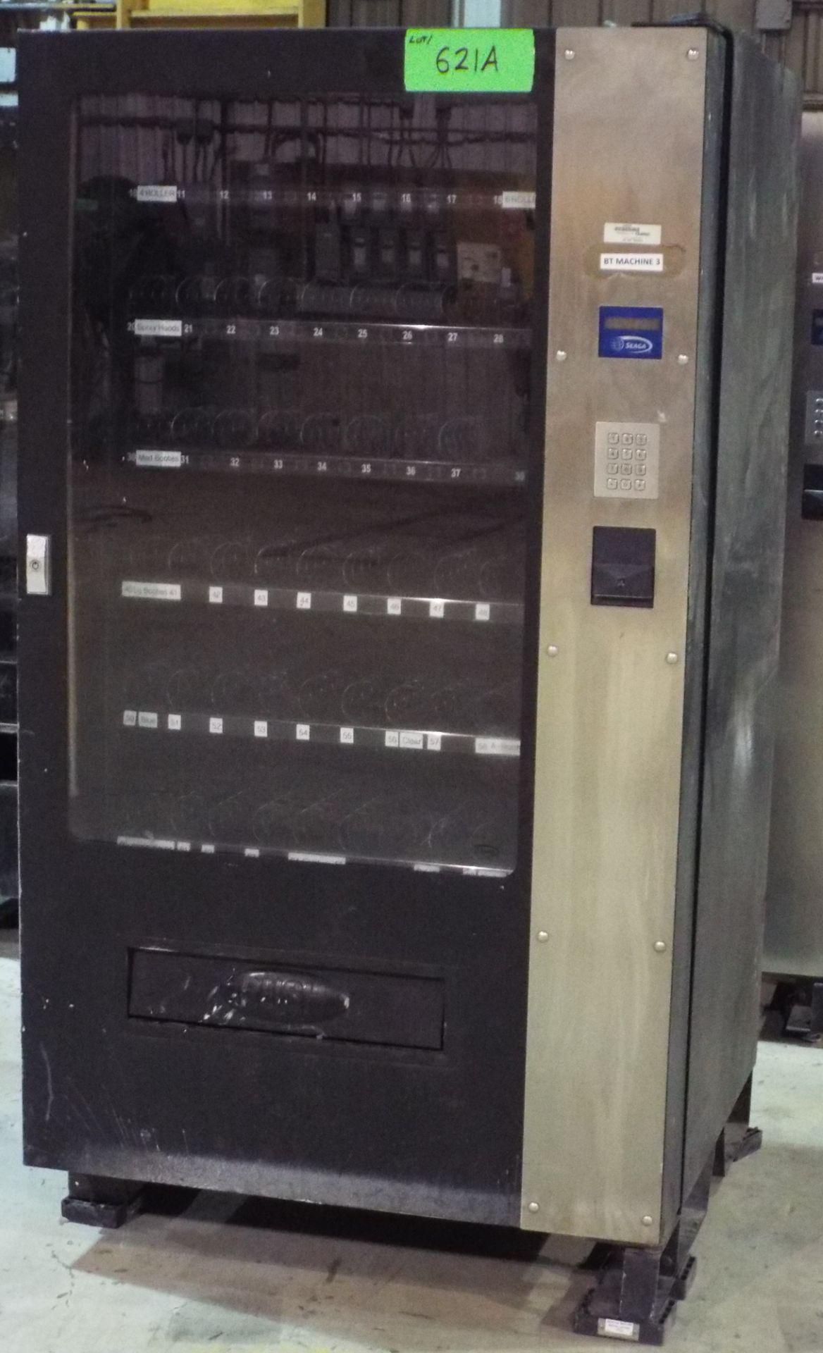 Lot 621A - SEAGA IQ640 INVENTORY CONTROL PARTS & PERISHABLES VENDING MACHINE, S/N: SK2461304217
