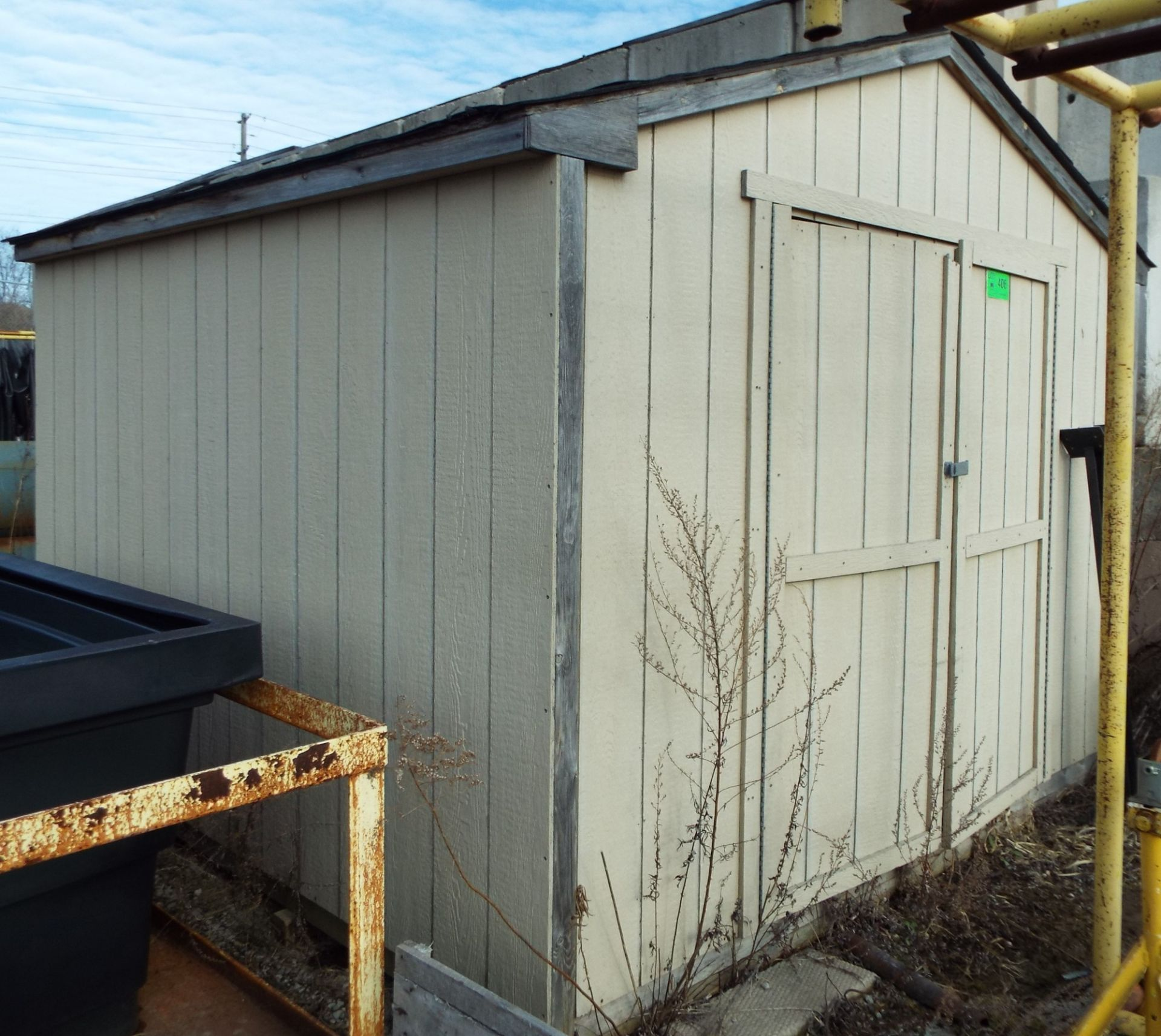 """Lot 406 - 121""""X118""""X99""""H WOODEN STORAGE SHED (CI) (DELAYED DELIVERY)"""