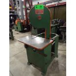 """K&K 10"""" ROLL-IN VERTICAL BANDSAW, S/N: 9157 (CI) [RIGGING FEE FOR LOT #23 - $75 CDN PLUS TAXES]"""