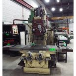 """FORTWORTH VBM-4V VERTICAL MILLING MACHINE WITH 17.5""""X75"""" T-SLOT TABLE, SPEEDS TO 1500RPM, PUSH"""