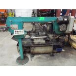 STG320DG HORIZONTAL BANDSAW WITH MANUAL VISE, IN-FEED CONVEYOR, MITRE CAPABILITY, S/N: N/A (CI) [