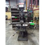 """PROSTAR MM VERTICAL TURRET MILLING MACHINE WITH 9""""X49"""" TABLE, SPEEDS TO 4200RPM INFINITELY VARIABLE,"""