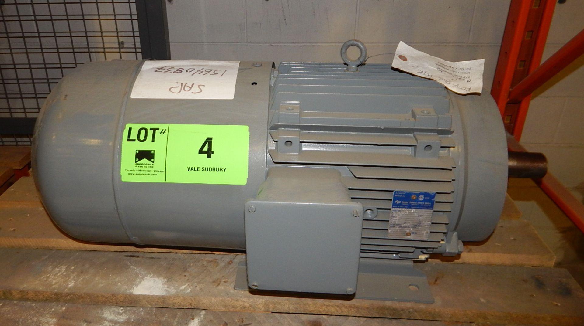 Lot 4 - 5 HP ELECTRIC MOTOR 870 RPM (CMD)