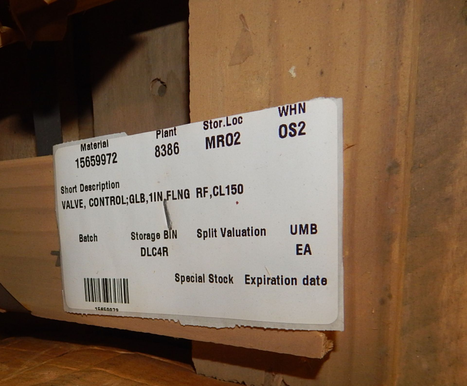 """Lot 7 - LOT/ 8"""" FLANGED CONTROL VALVE AND FLOROX CONTROL VALVE (CMD)"""