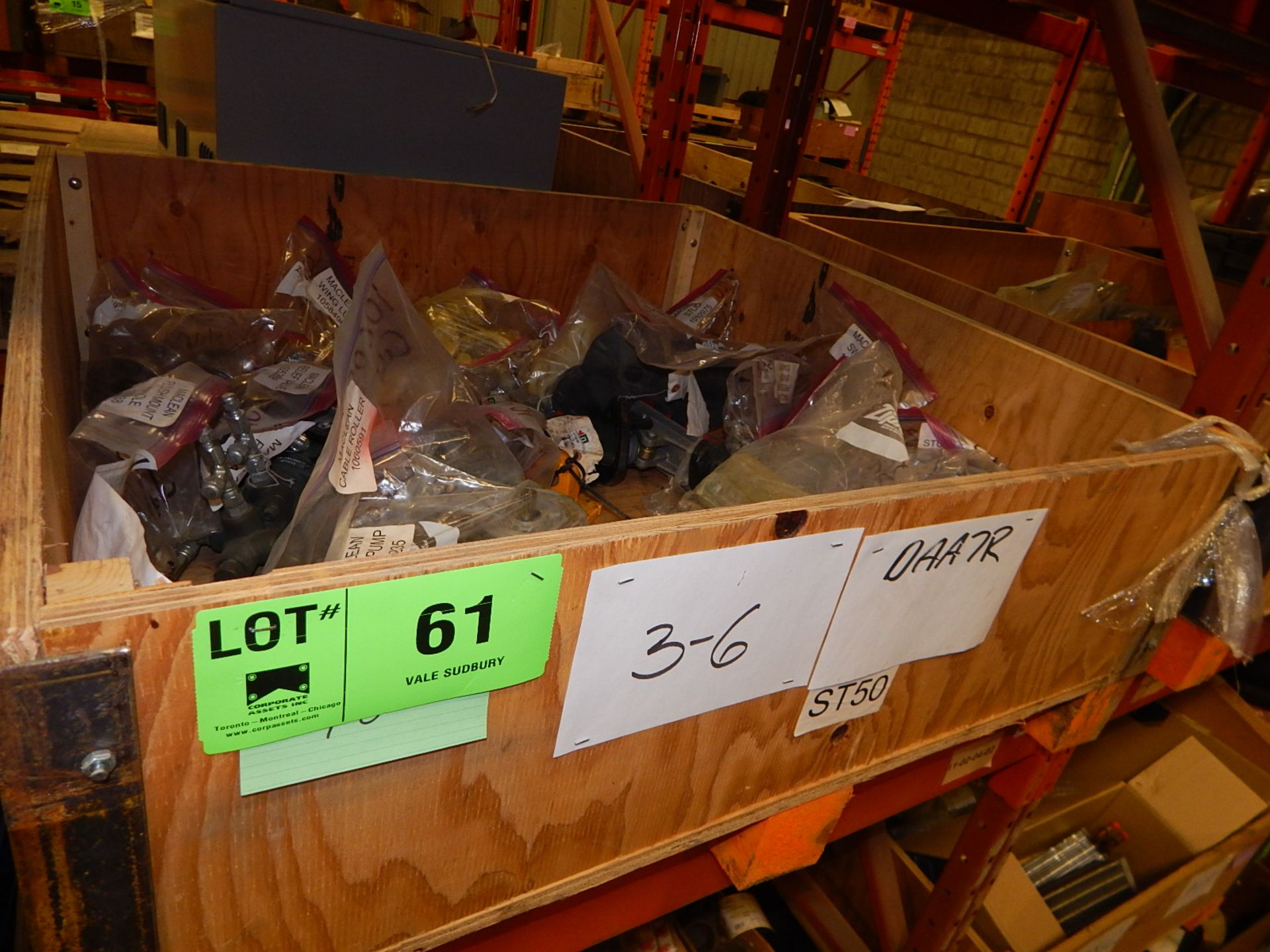 LOT/ MISCELLANEOUS MACLEAN PARTS (CMD)