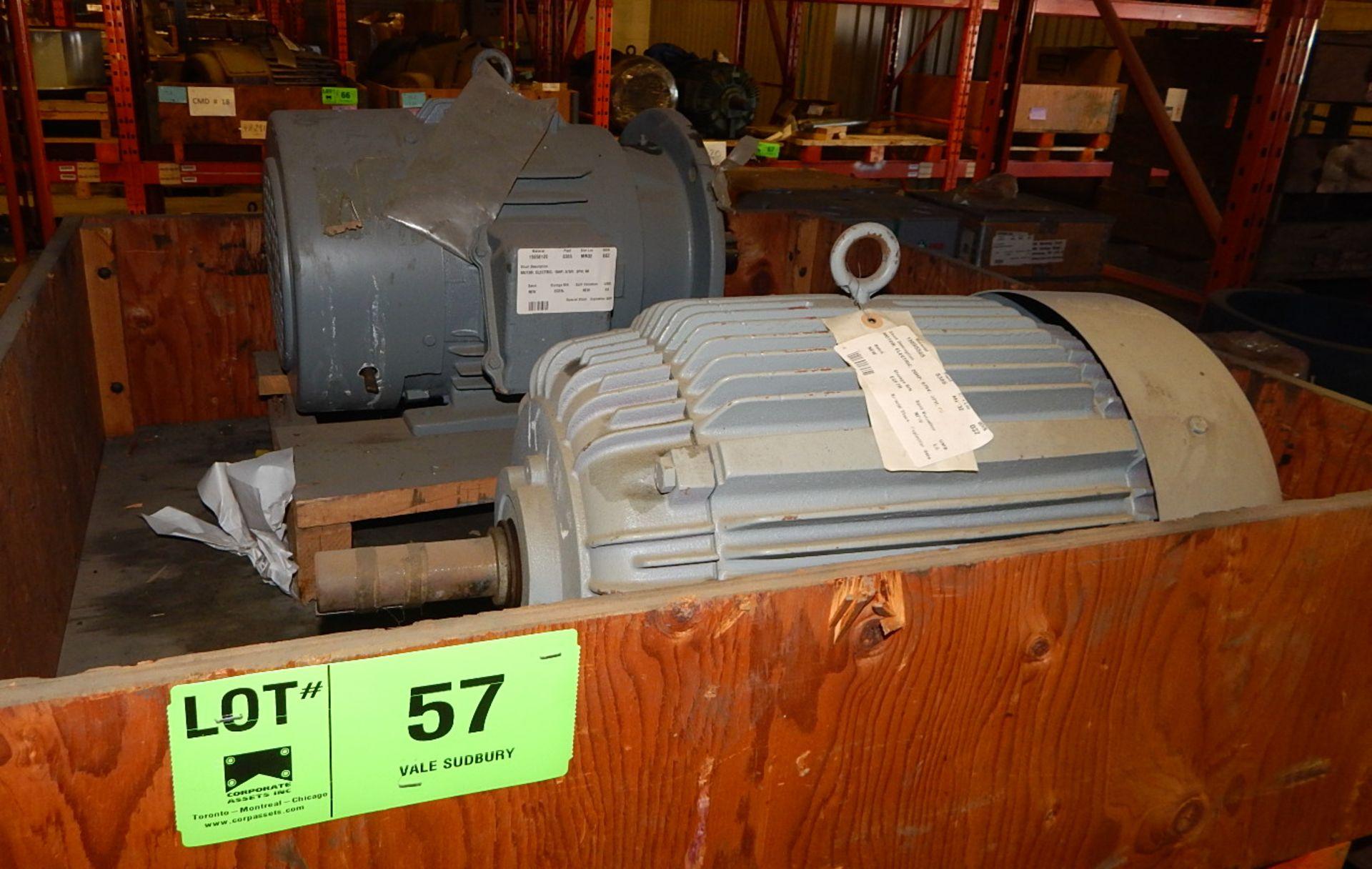 Lot 57 - LOT/ ELECTRIC MOTORS 15HP/575V/3PH AND 20HP/575V/3PH (CMD)