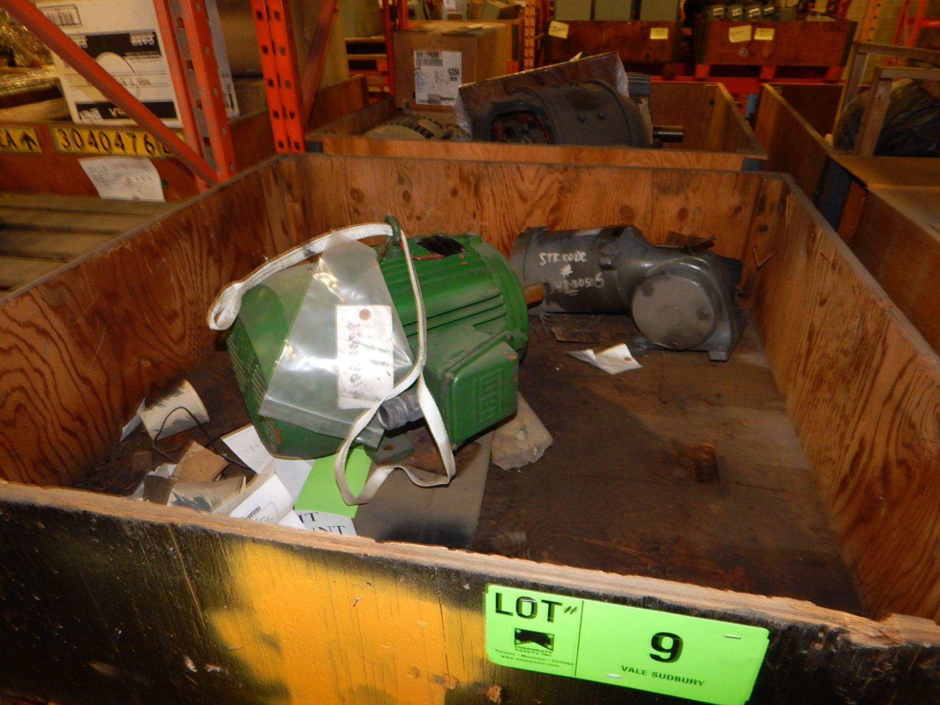 Lot 9 - ELECTRIC MOTOR 7.5HP/1800RPM/ 575V/ 3PH/ 60 CYCLE, FRAME 215T (CMD)