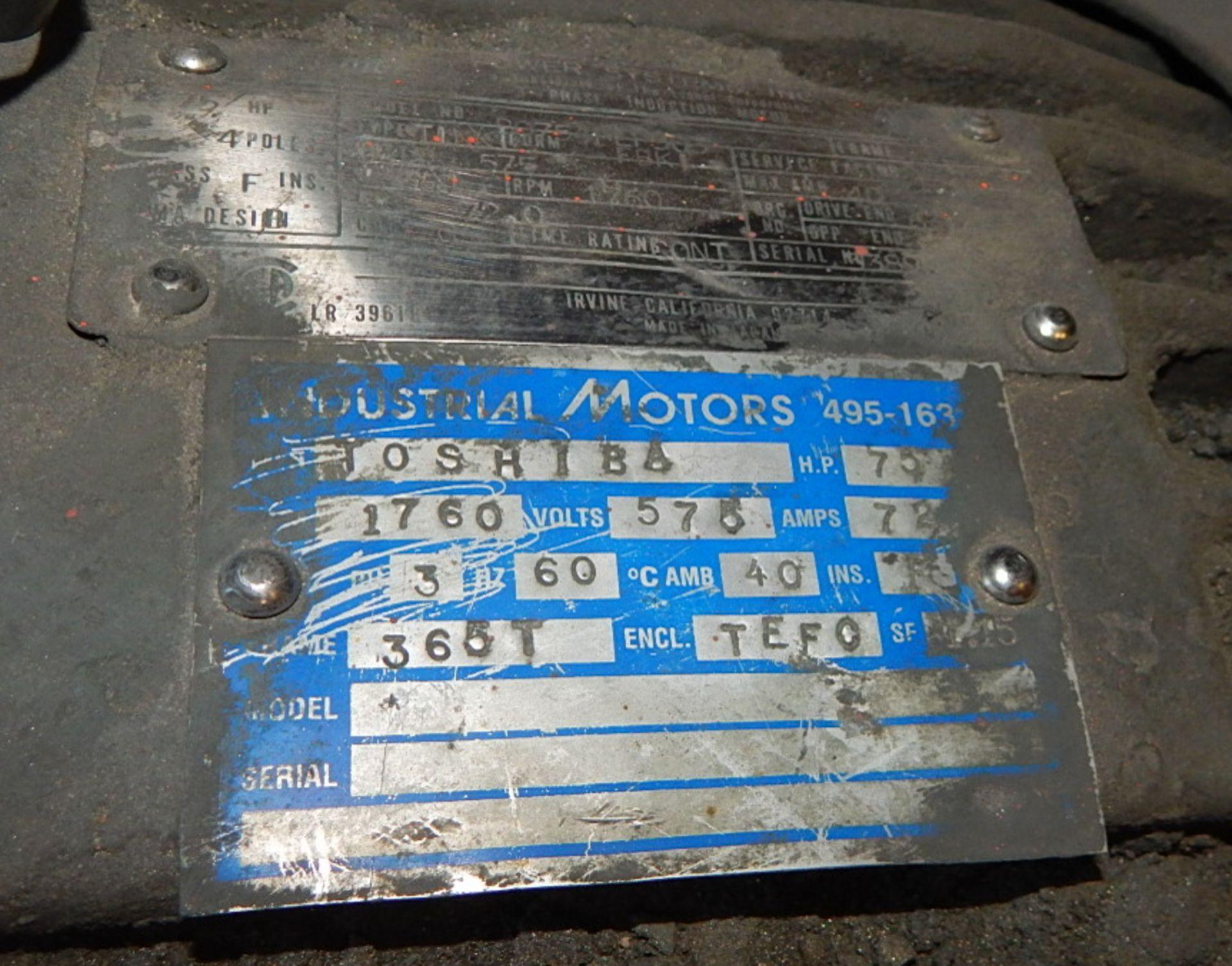 Lot 45 - LOT/ ELECTRIC MOTORS 75HP/ 1760RPM/575V/3PH, 40HP/1770RPM/575V/3PH (CMD)