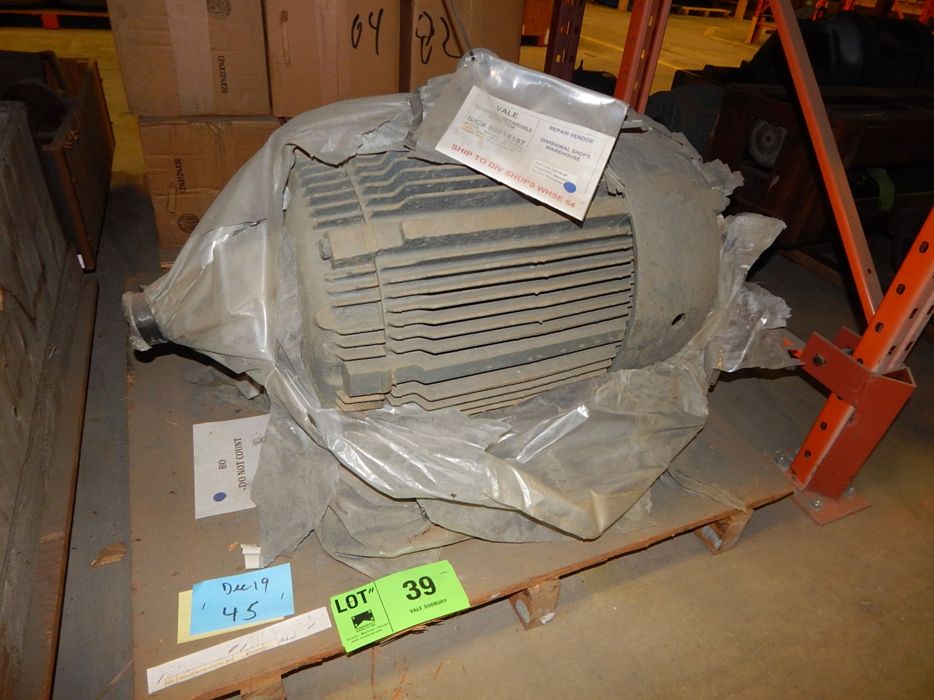 Lot 39 - 75 HP/12OORPM/ 550V/ 3PH ELECTRIC MOTOR (CMD)