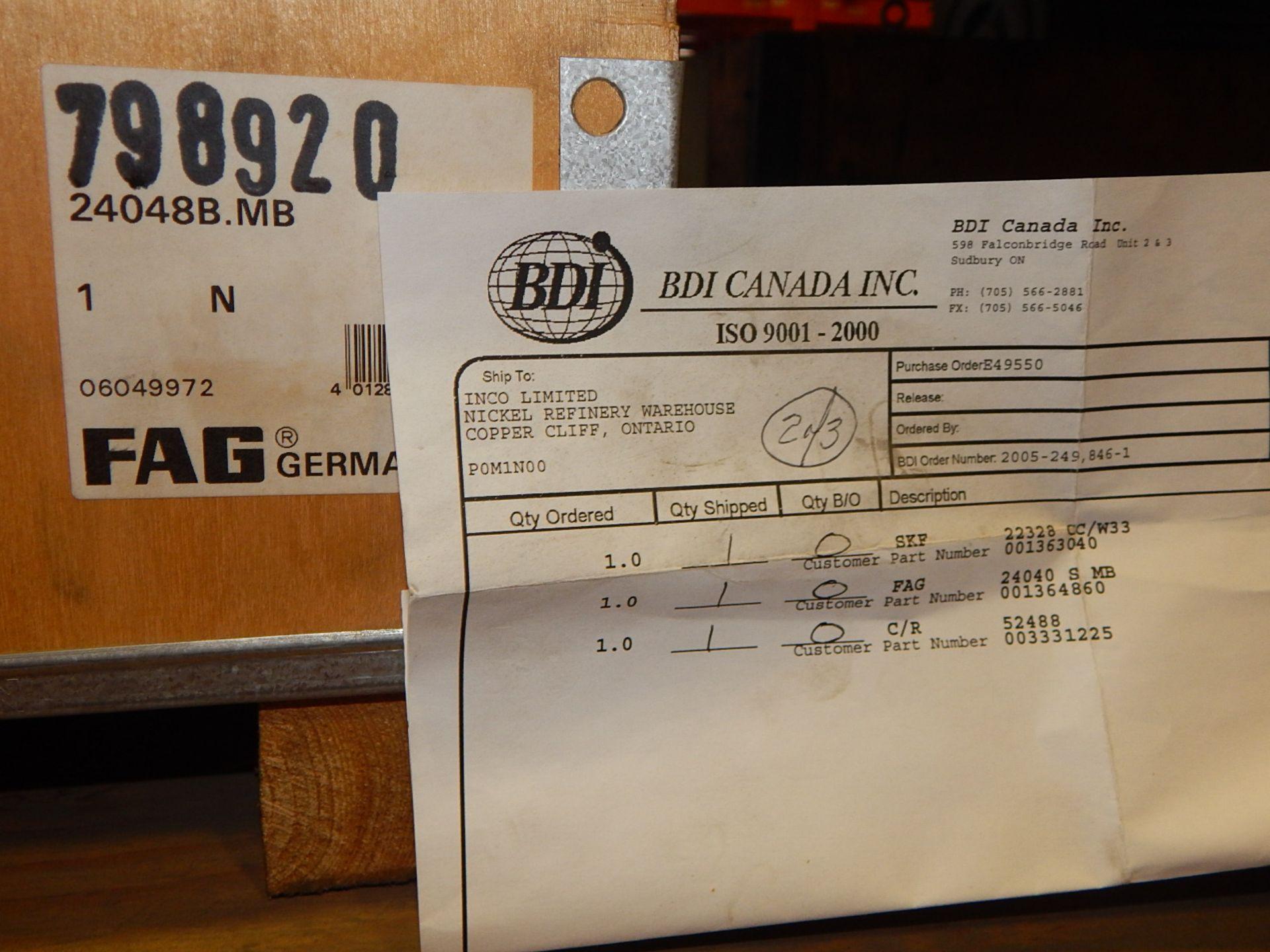 Lot 38 - LOT/ SELF-ALIGNING SKF AND FAG ROLLER BEARING (CMD)