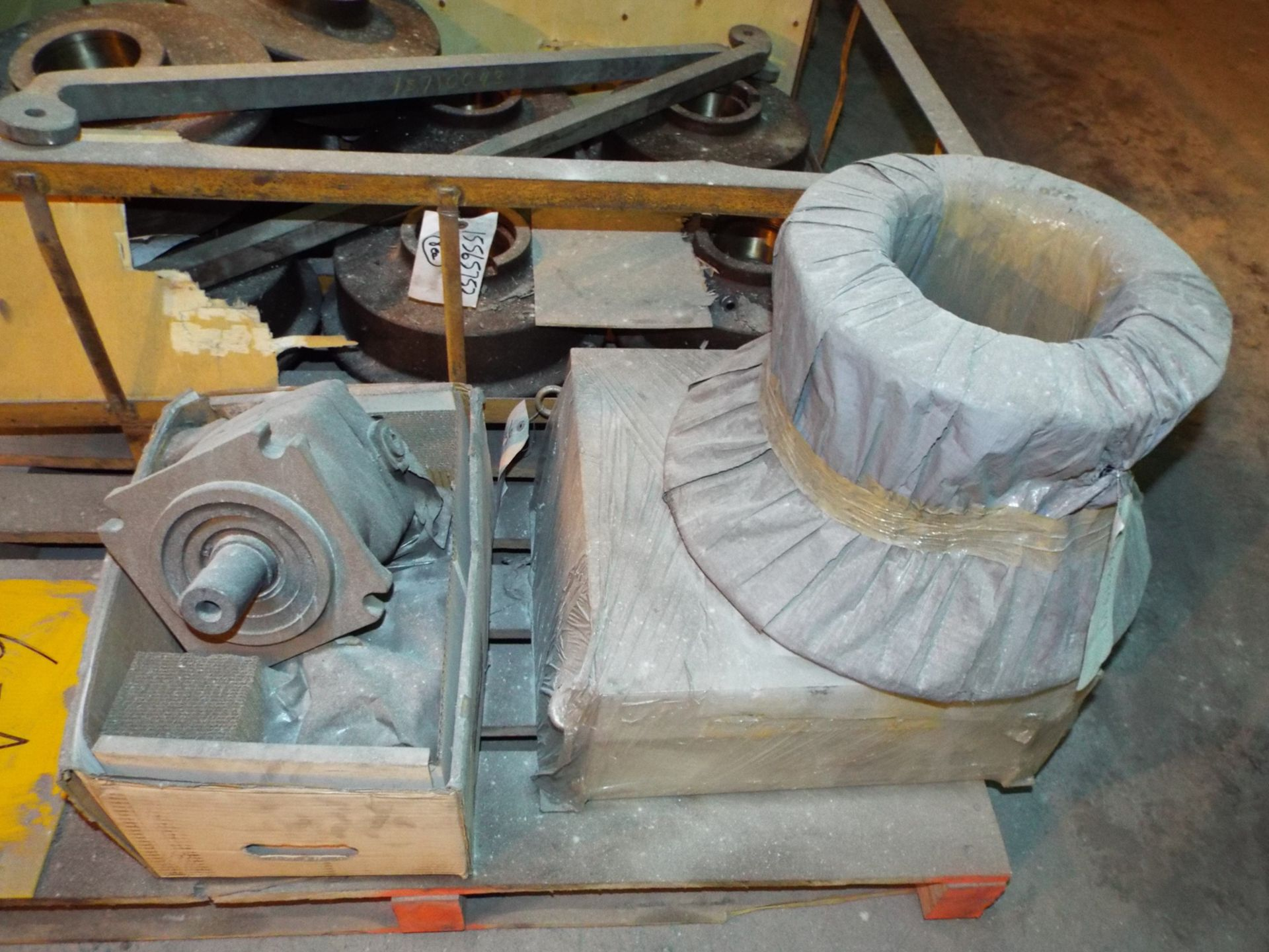 "Lot 25 - LOT/ CONTENTS OF SKID INCLUDING BUT NOT LIMITED TO (8) REFINERY BUGGY WHEELS WITH 14"" O.D., 6"""