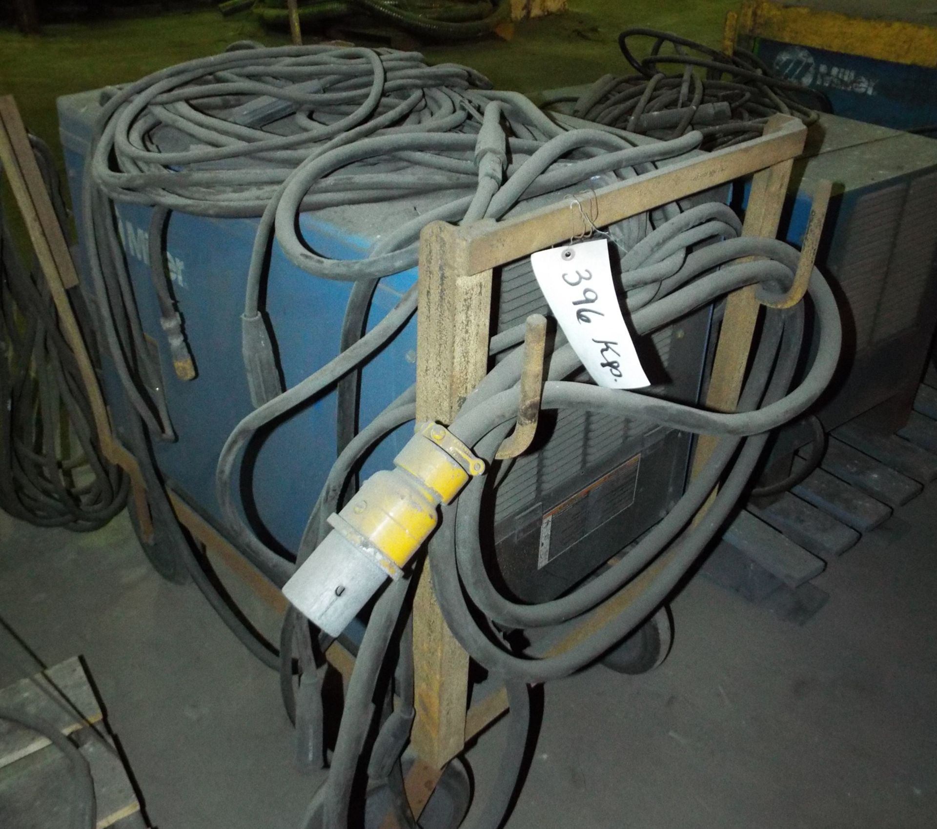 Lot 2 - MILLER DIMENSION 652 DIGITAL WELDING POWER SOURCE WITH CABLES, S/N: MB130038U