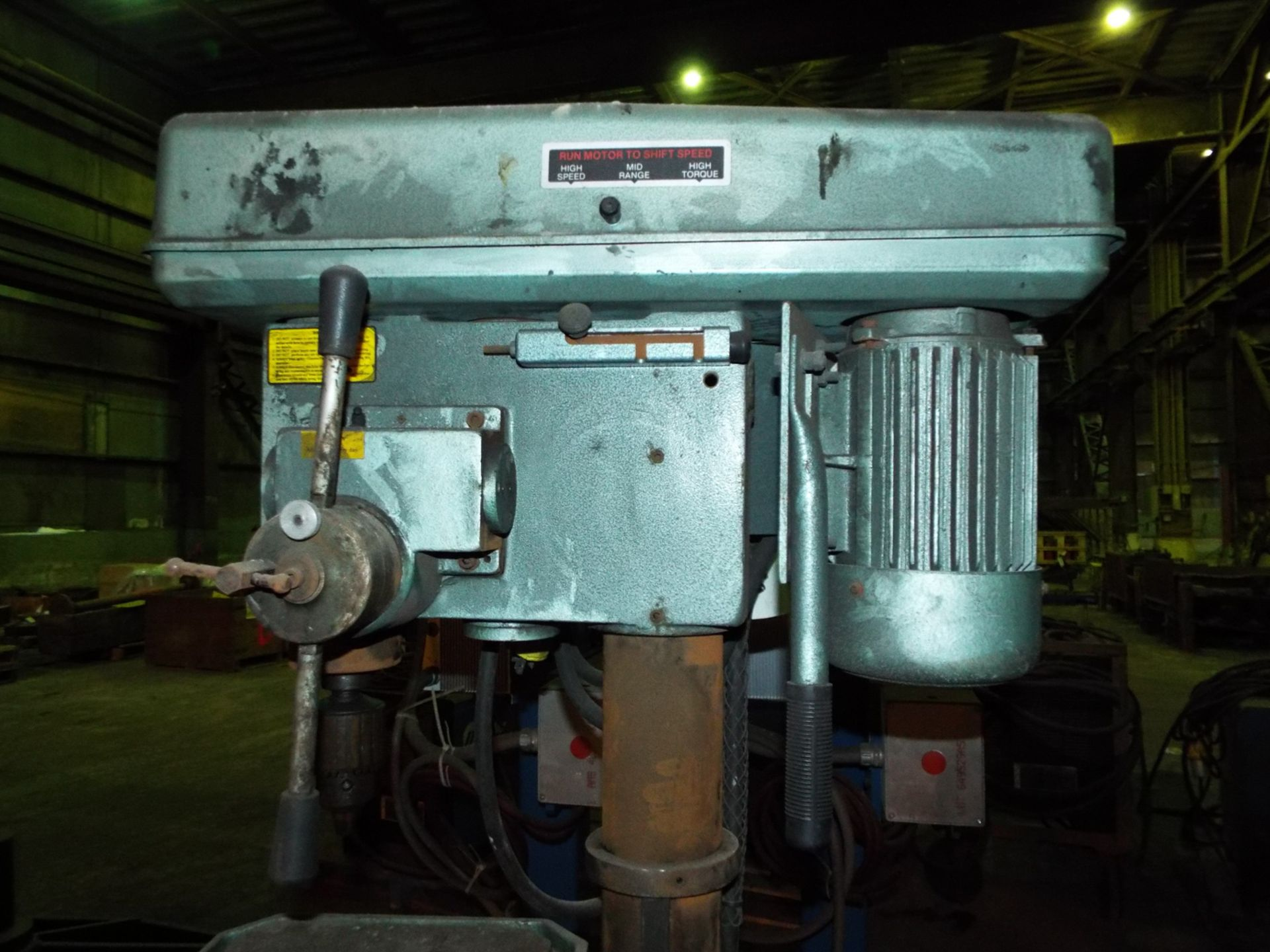 """Lot 14 - ELLIS 9400 VARIABLE SPEED DRILL PRESS WITH 16""""X17.5"""" TABLE, 13"""" THROAT, 1200 RPM, 2 HP, S/N:"""