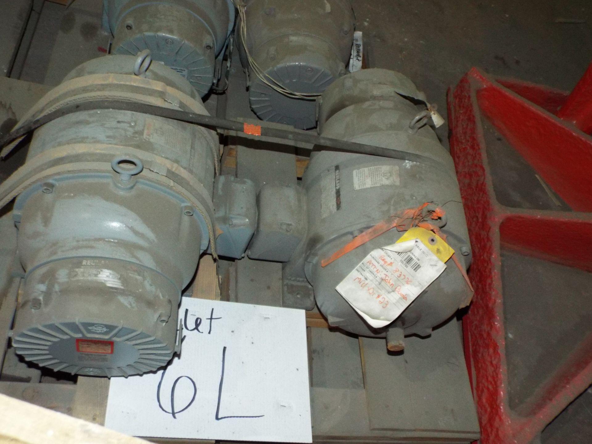 Lot 19 - LOT/ (4) REULAND HOIST MOTORS 7.5HP/1800RPM/575V/3PH/60HZ/254U WITH MAGNETIC BRAKE (PLT 6L)