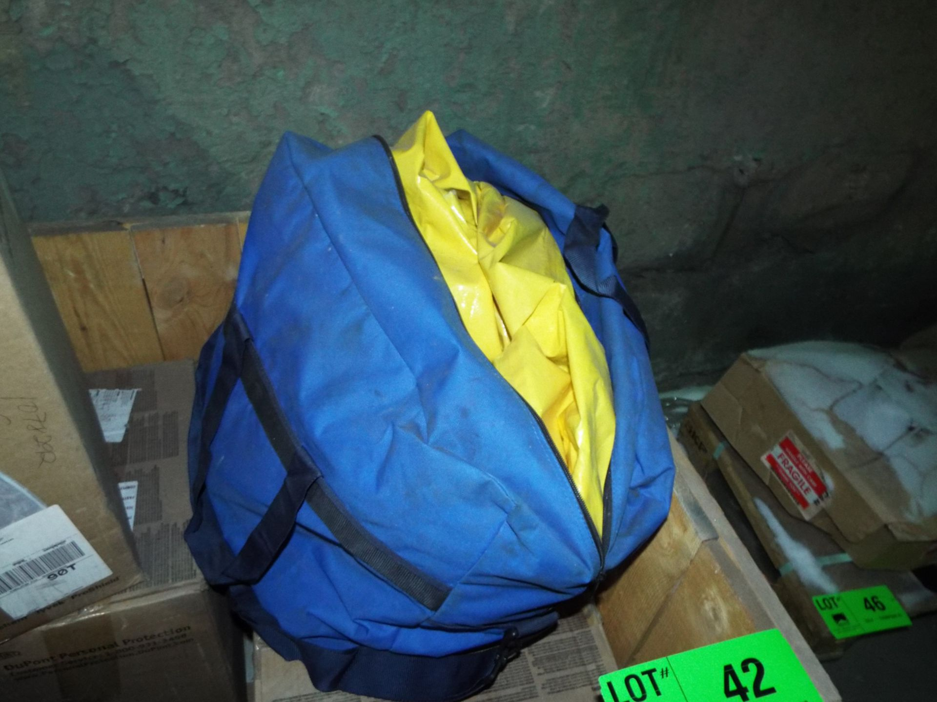 Lot 42 - LOT/ CONTENTS OF CRATE - (6) DUPONT TYCHEM PPE ENCAPSULATED SUITS, (1) 1900 PSI PRESSURE WASHER, (1)