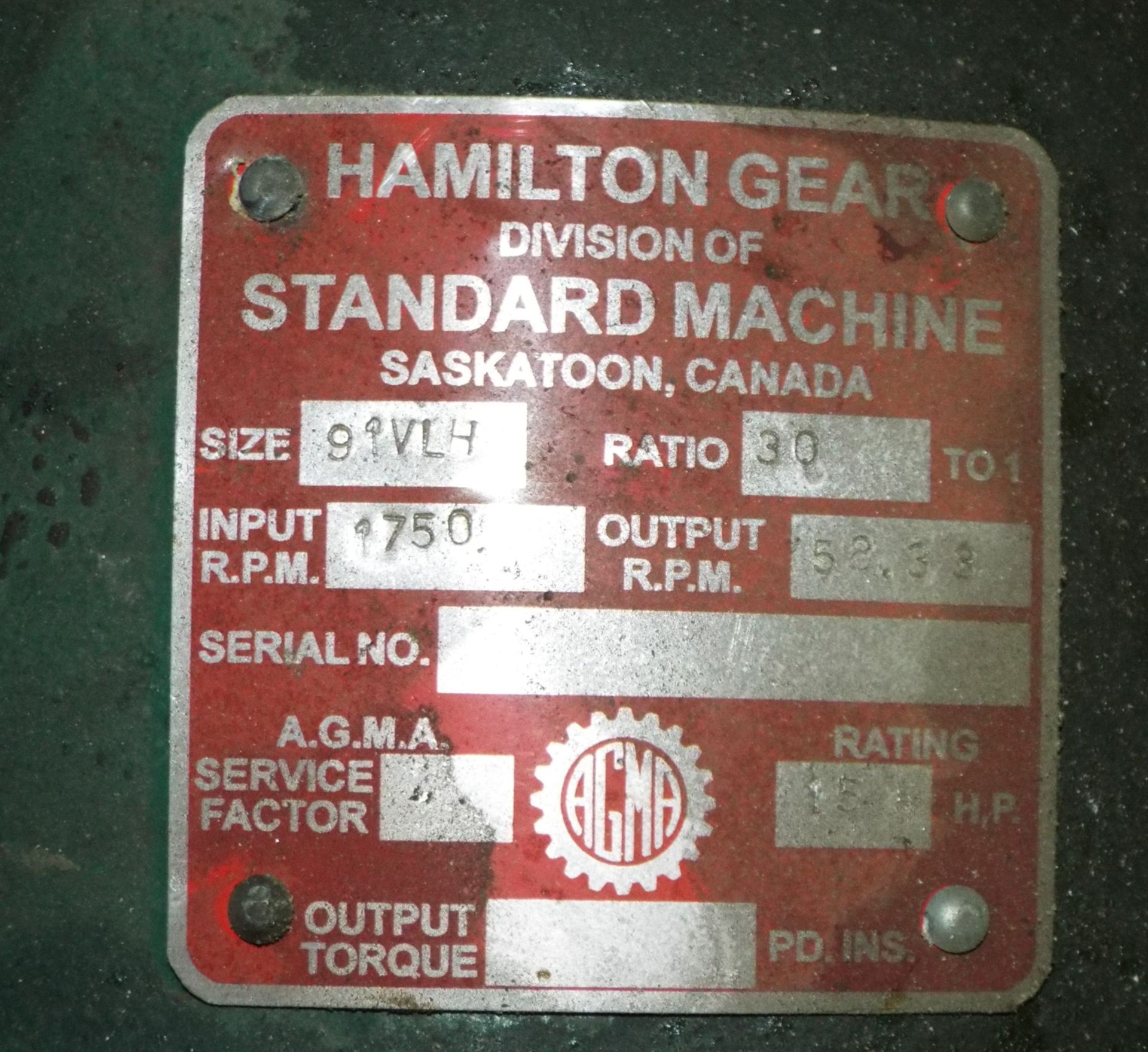 Lot 39 - LOT/ CONTENTS OF SKID - HAMILTON GEAR 30:1 RATIO WORM TYPE GEARBOX (PLT 6EE)