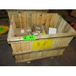 LOT/ CONTENTS OF CRATE INCLUDING BUT NOT LIMITED TO (1) DEUTZ SERIES 413 ENGINE FLYWHEEL, (9)