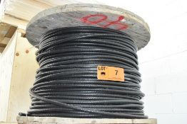 LOT/ SPOOL OF WESTBURNE (4) COPPER CONDUCTOR METAL CLAD ELECTRICAL CABLE WITH REEL (CI) (LOCATED