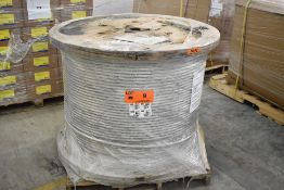 LOT/ SPOOL OF COSMOS 477 MCM 19 STRAND AAC BARE ALUMINUM CONDUCTOR WIRE, APPROX. 4240 FT LENGTH (