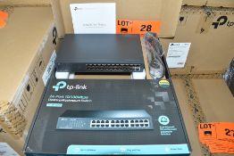 LOT/ (96) TPLINK TL-SF1024D 24PORT 10/100MBPS DESKTOP/RACKMOUNT NETWORK SWITCHES - (12)BX * (8)PCS/