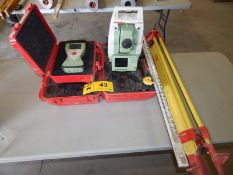 LOT/ LEICA TSP12P BLUETOOTH COMPATIBLE TOTAL STATION WITH DIGITAL DISPLAY, TYPE CS15 FIELD