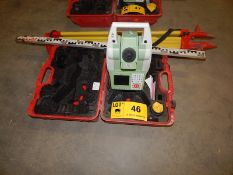 LOT/ LEICA VIVA TS11 BLUETOOTH COMPATIBLE TOTAL STATION WITH DIGITAL DISPLAY, TRIPOD AND GRADING