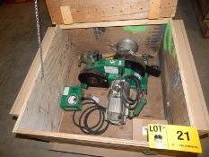 GREENLEE 6001 HEAVY DUTY CABLE PULLER WITH 6,500LB MAX. CAPACITY, S/N: YF7620TE