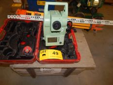 LOT/ LEICA TCR803POWER TOTAL STATION WITH DIGITAL DISPLAY, TRIPOD AND GRADING STICK