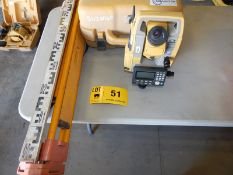 LOT/ TOPCON ES103 TOTAL STATION WITH DIGITAL DISPLAY, TRIPOD AND GRADING STICK