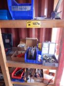 LOT/ CONTENTS OF SECTION CONSISTING OF KNOCKOUT SET, RIDGID PIPE THREADING ACCESSORIES, AND HAND