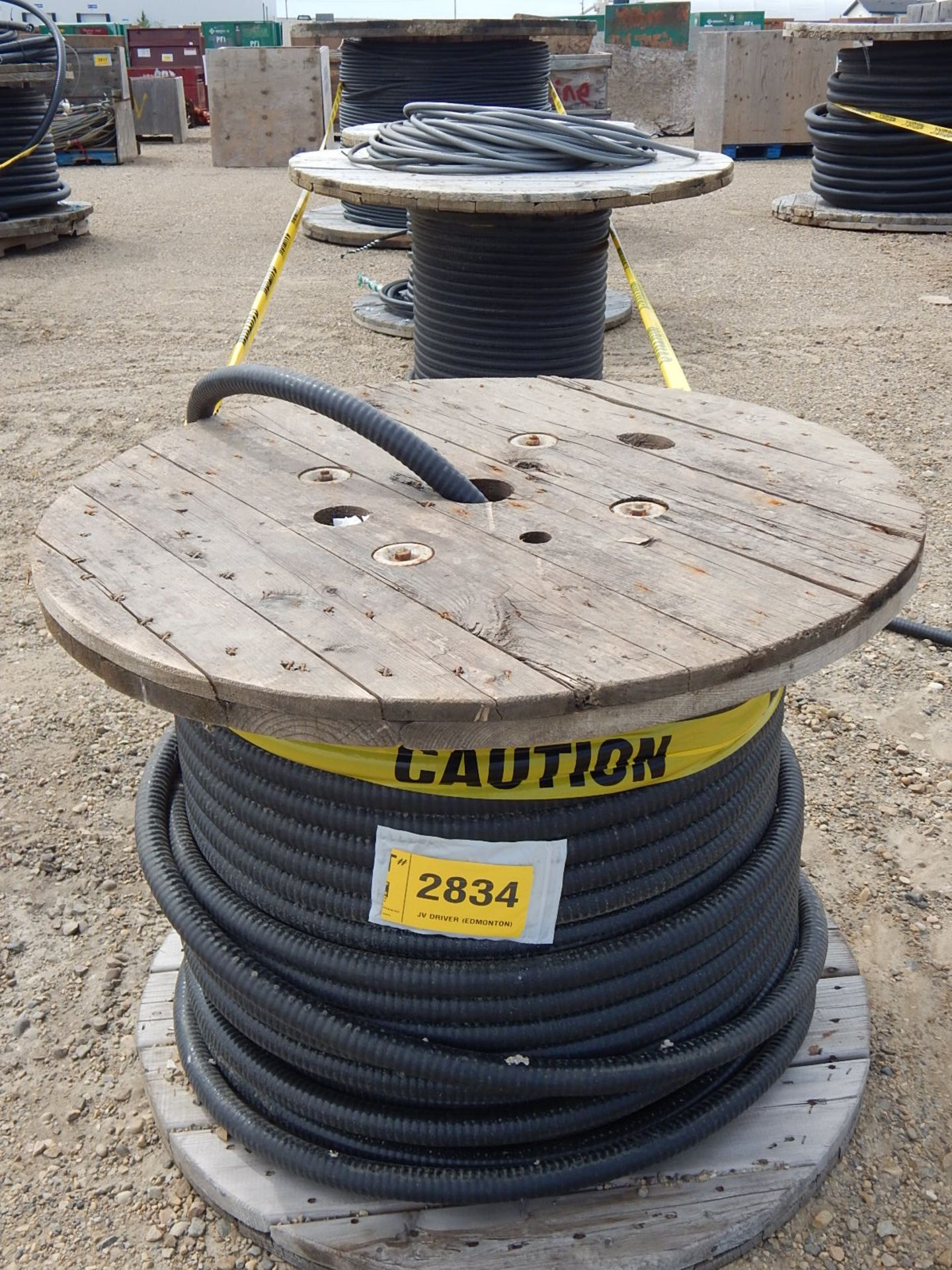 LOT/ REELS OF ASSORTED ELECTRICAL CABLE - Image 2 of 3