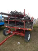 LOT/ SCAFFOLDING YARD TRAILER WITH CONTENTS