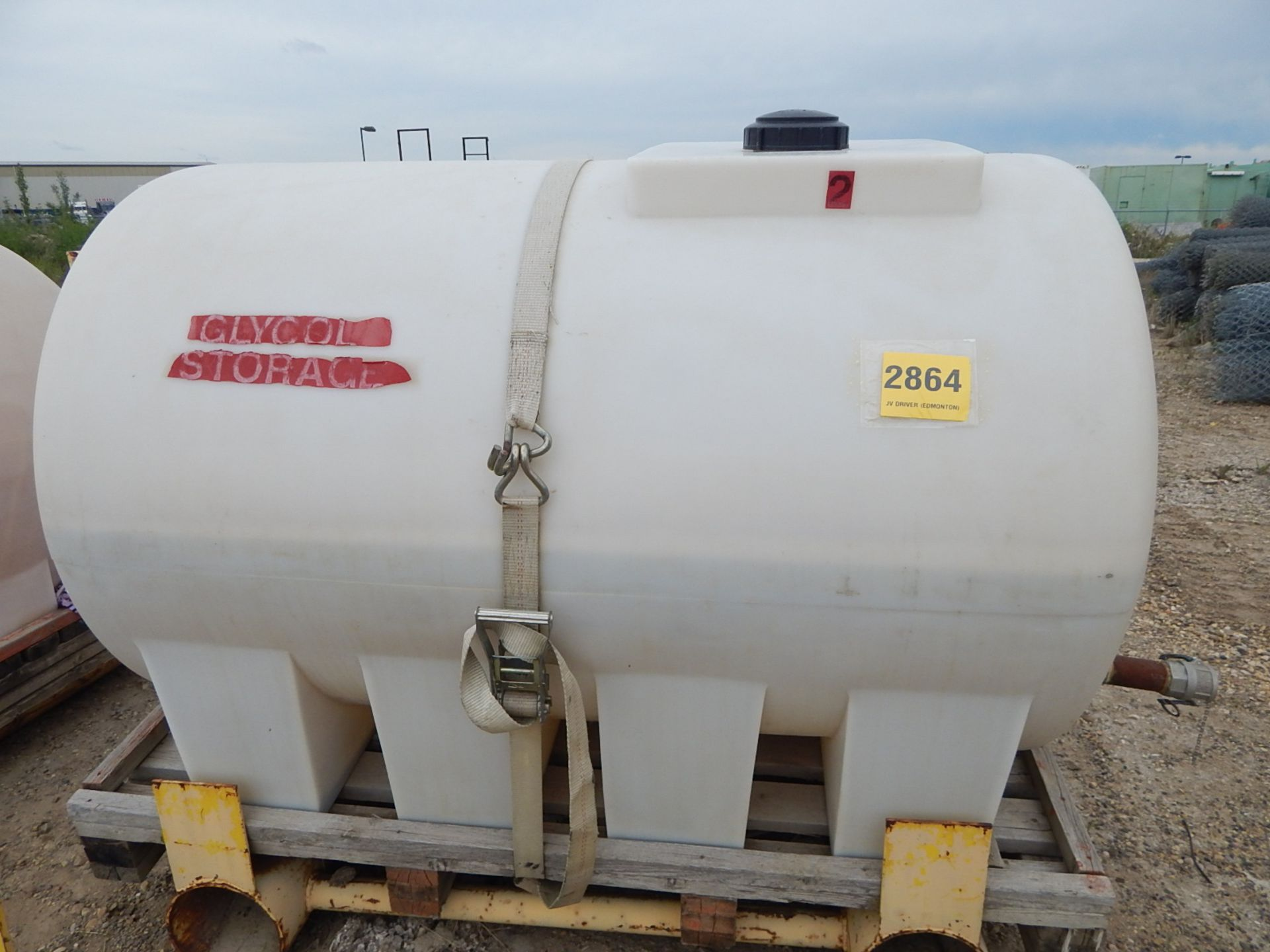 LIQUID STORAGE TANK WITH APPROX. 300GALLON CAPACITY, S/N: N/A