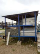 LOT/ STEEL SCAFFOLDING RACK WITH CONTENTS (CI)