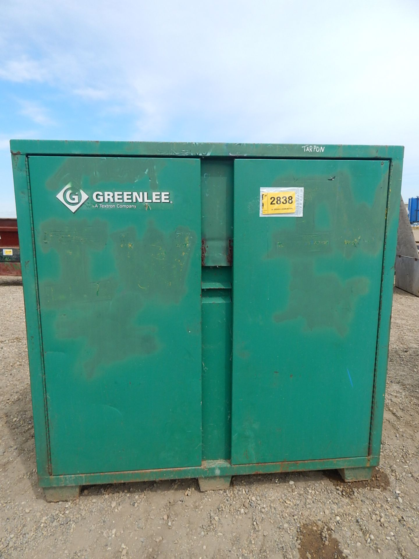 LOT/ (2) GREENLEE 2-DOOR JOB BOX CABINETS